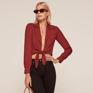 Reformation cropped blouse